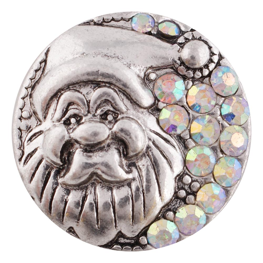 Snap Jewelry Metal - Holiday Bling Santa AB