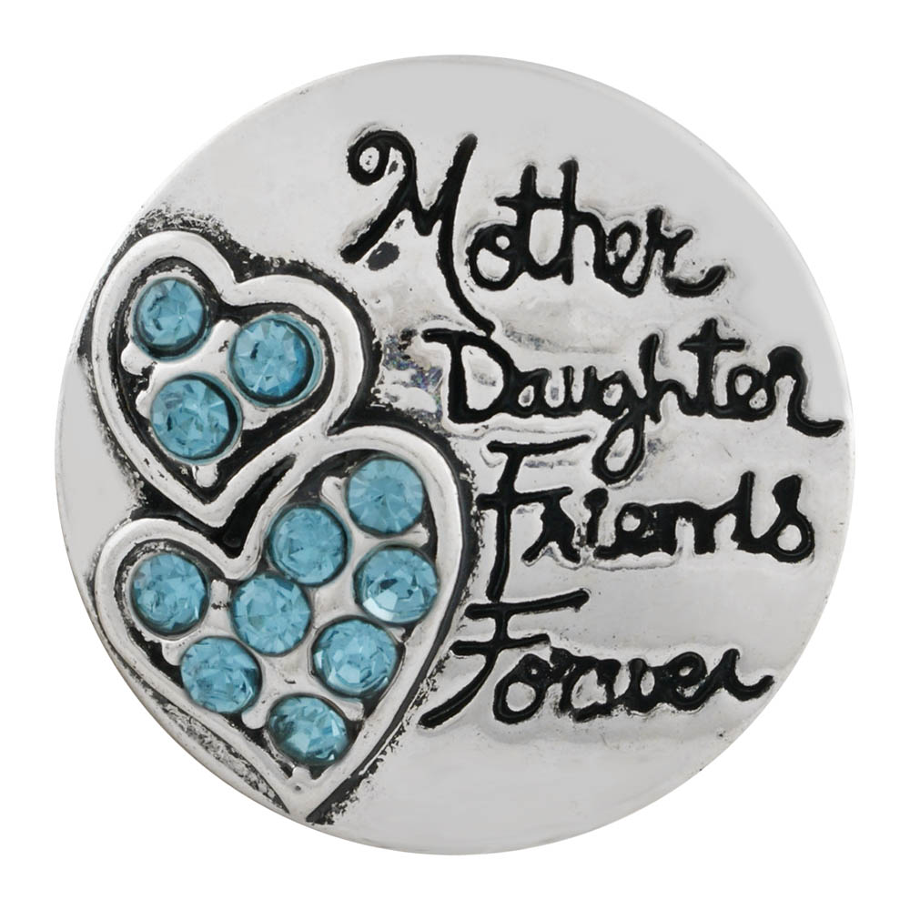 "Snap Jewelry Rhinestone -""Mother Daughter Friends Forever"""