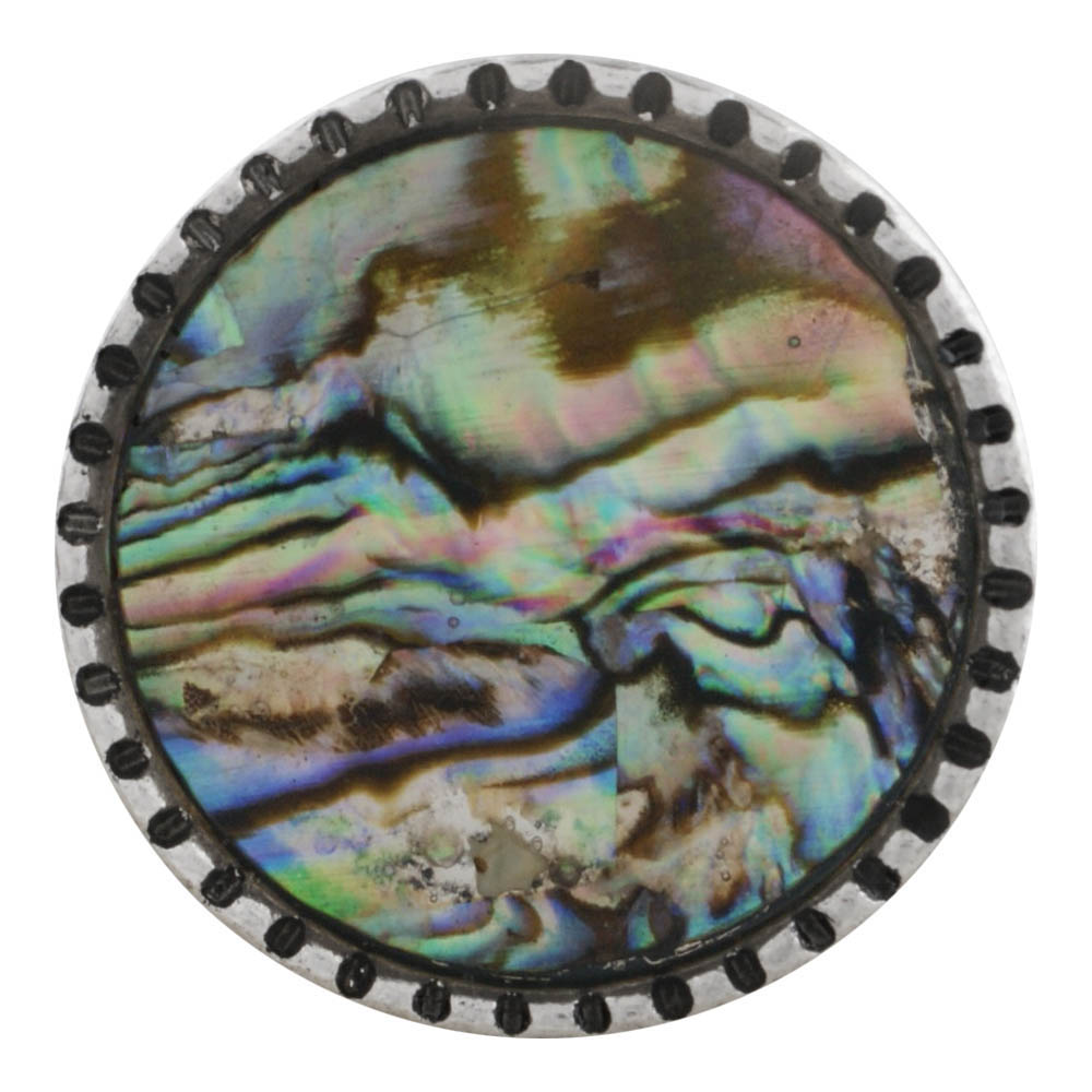 Snap Jewelry Abalone - Silver-tone Base
