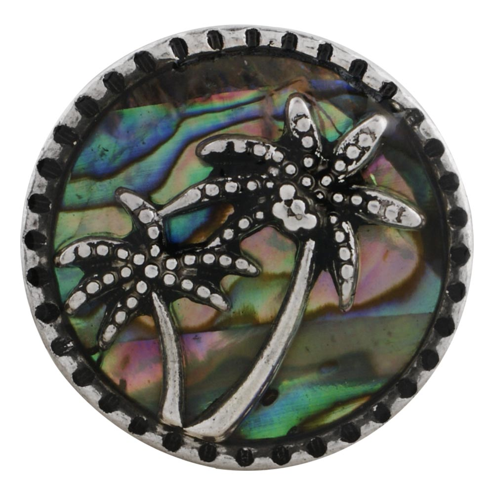 Snap Jewelry Abalone - Abalone Shell Palm Trees