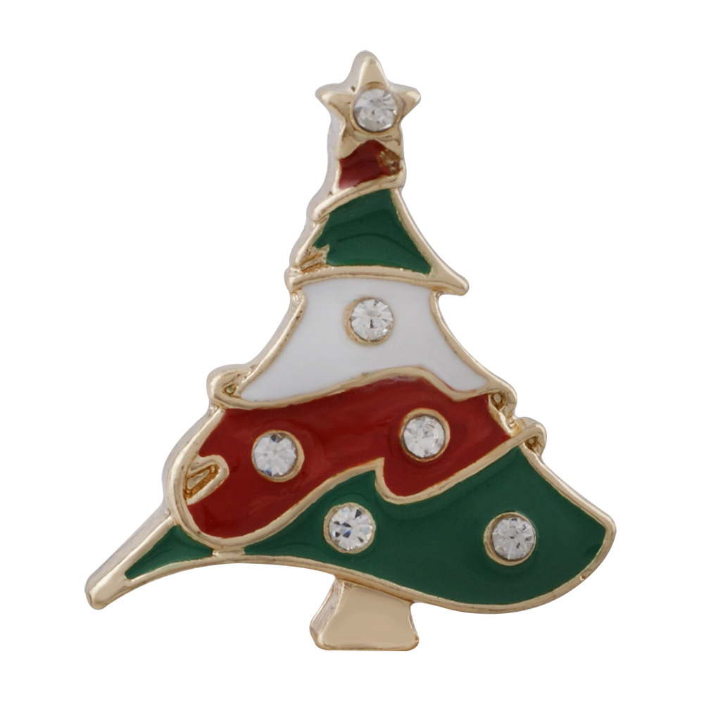 Snap Jewelry Enamel - Christmas Tree