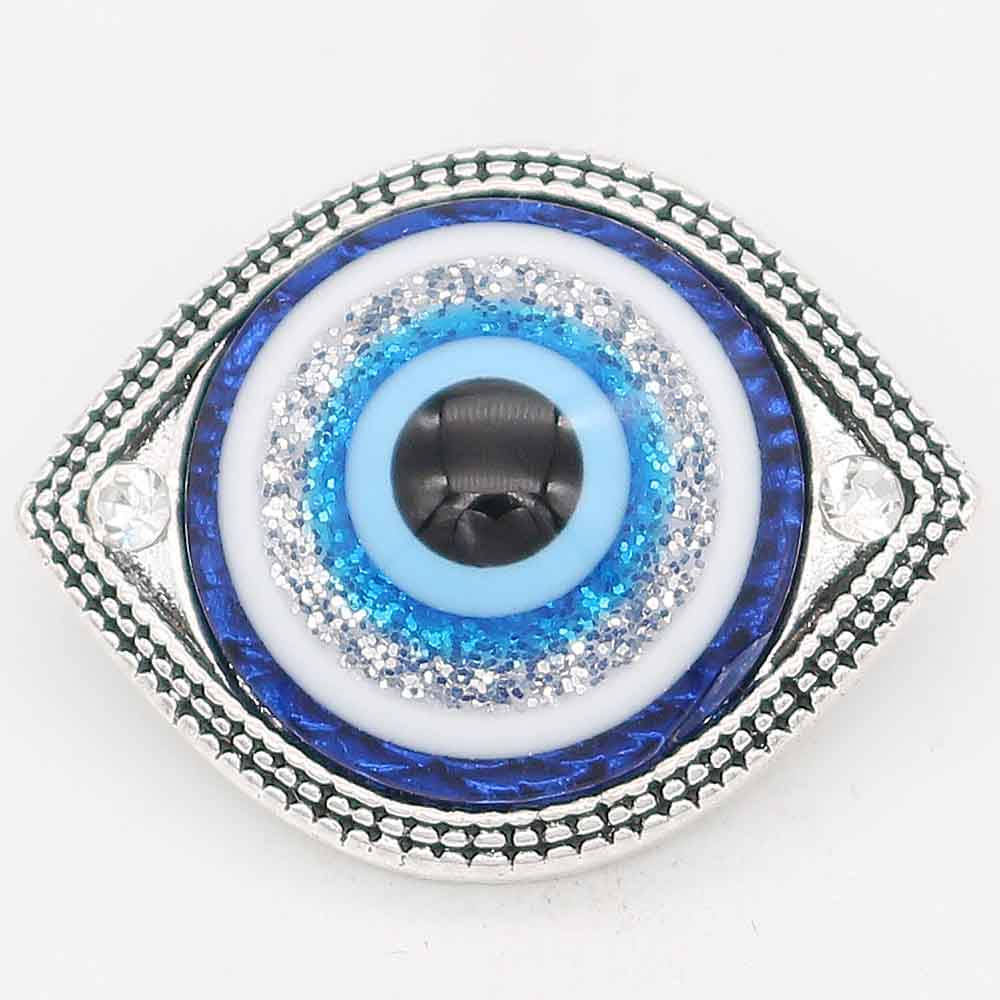 Snap Jewelry Rhinestone - Eye of God in Blue Tones