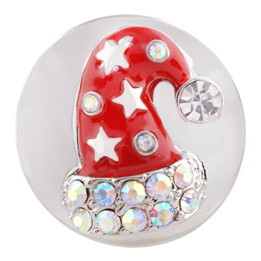 Snap Jewelry Enamel - Christmas Hat