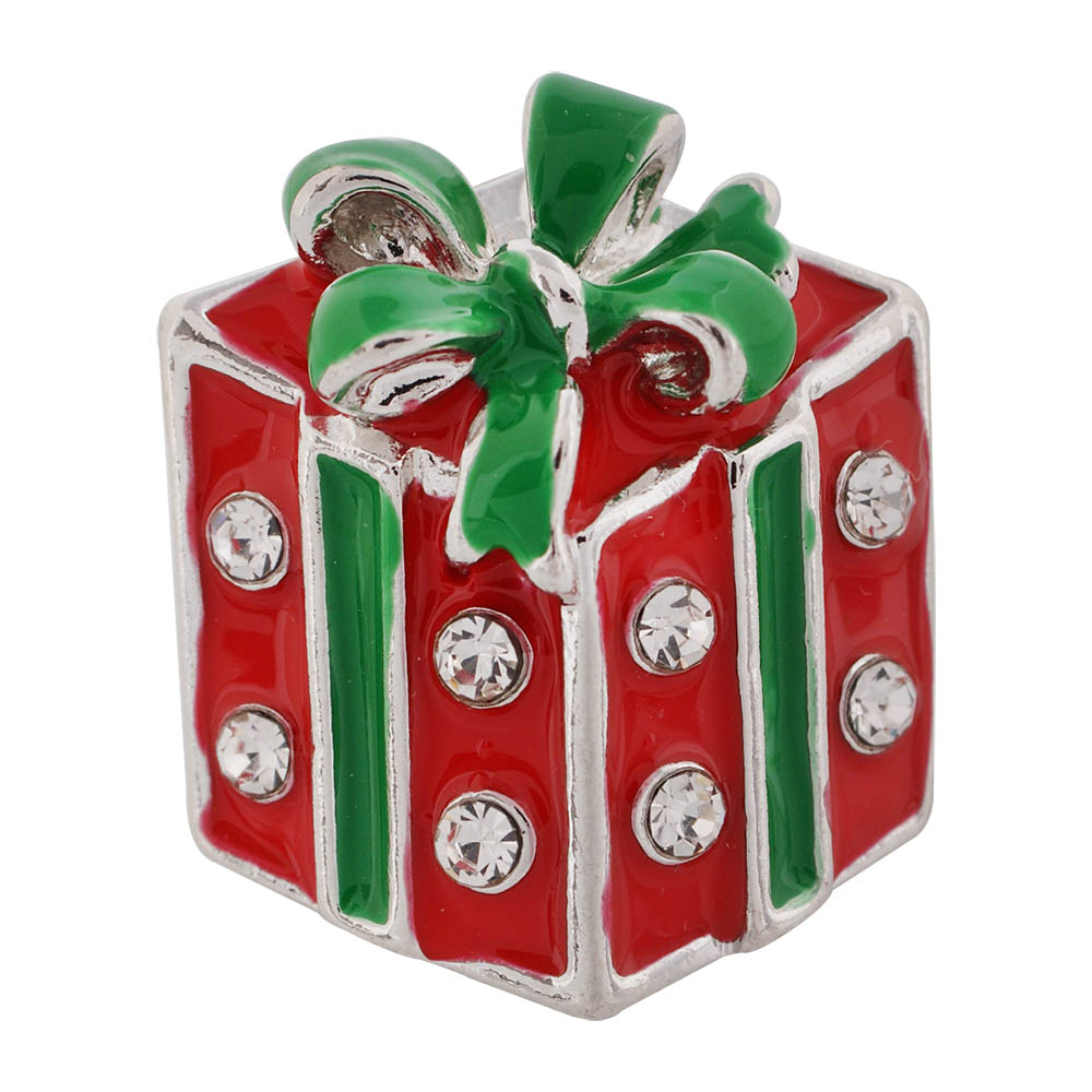 Snap Jewelry Rhinestone - Holiday Christmas Gift in Red & Green