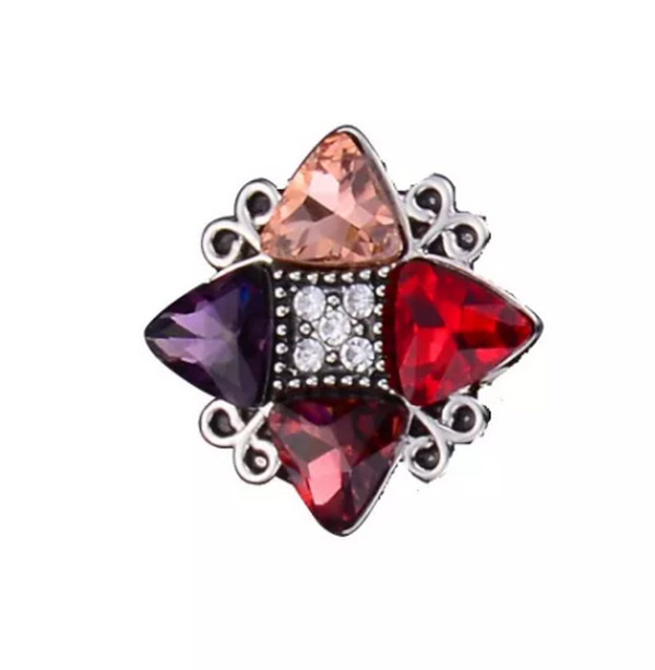 Snap Jewelry CZ - Multi Color Trillion & Marquise shaped Crystal