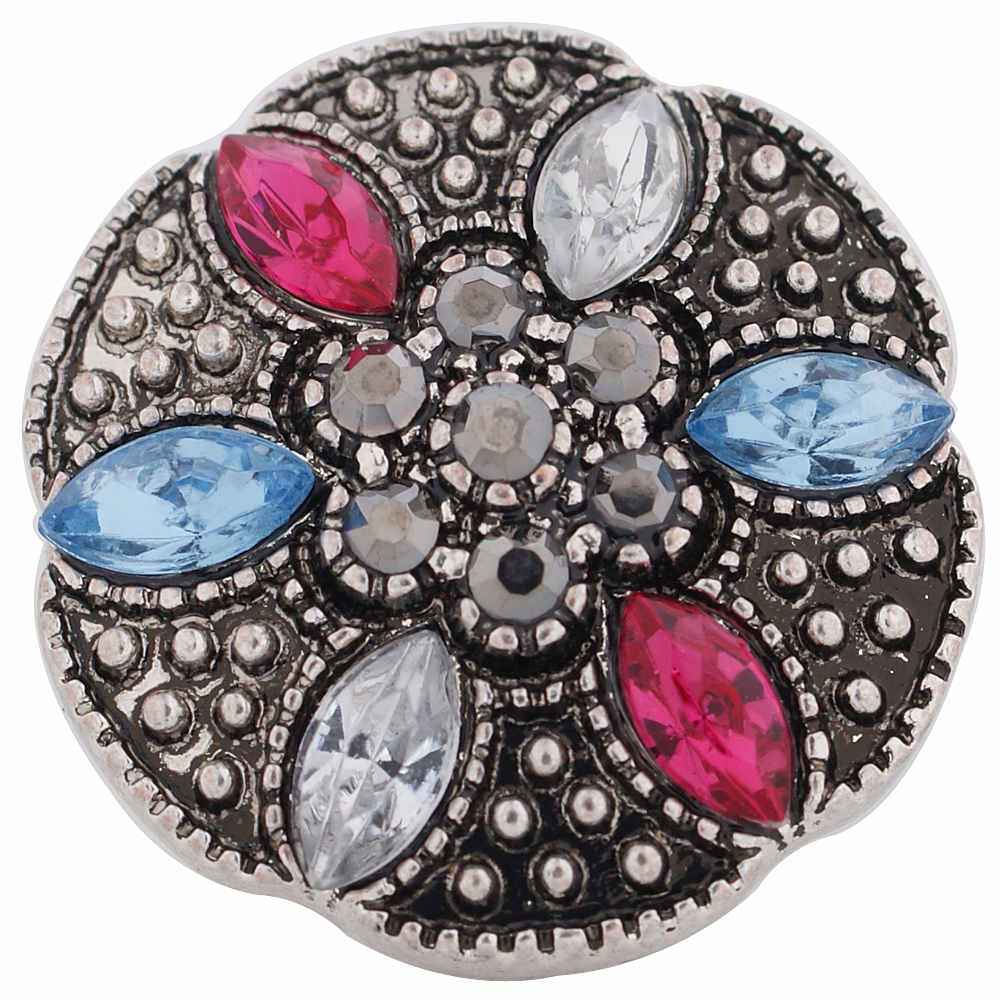 Snap Jewelry Rhinestone - Multicolor Antique