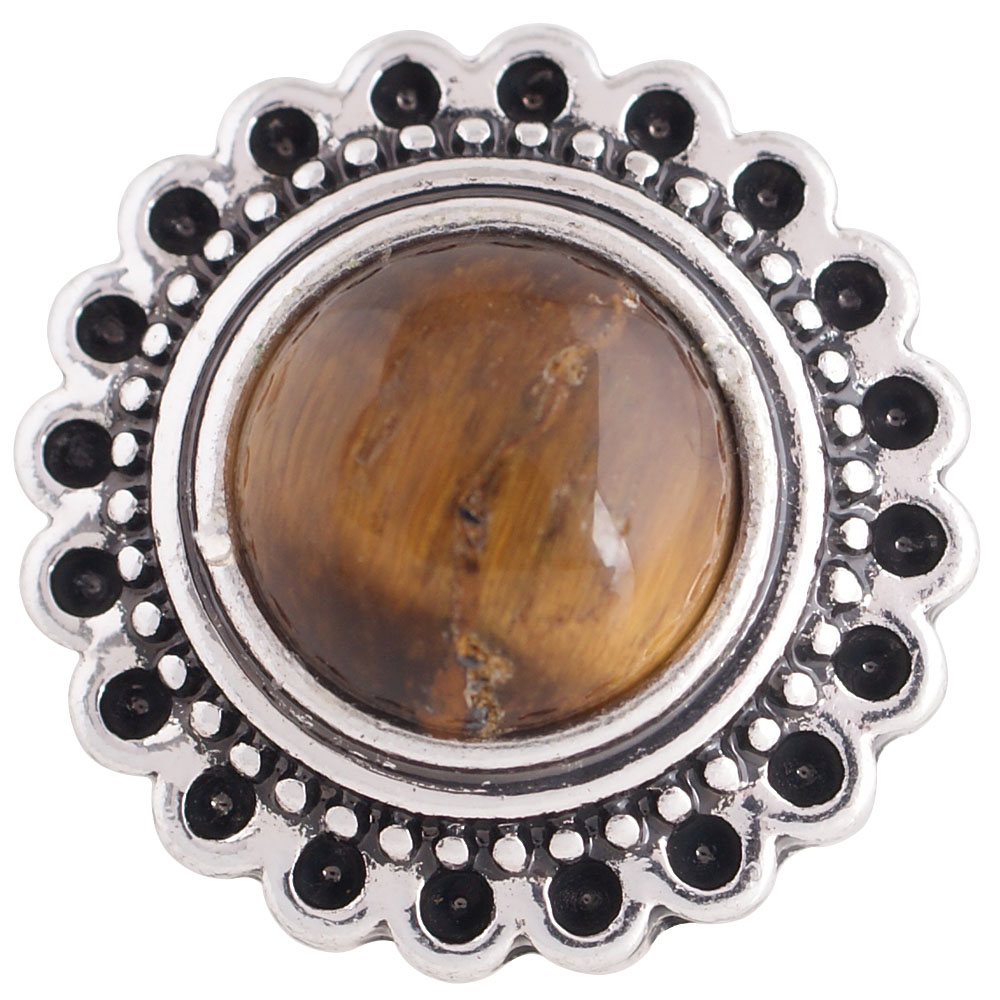 Snap Jewelry Stone - Cat's Eye Brown