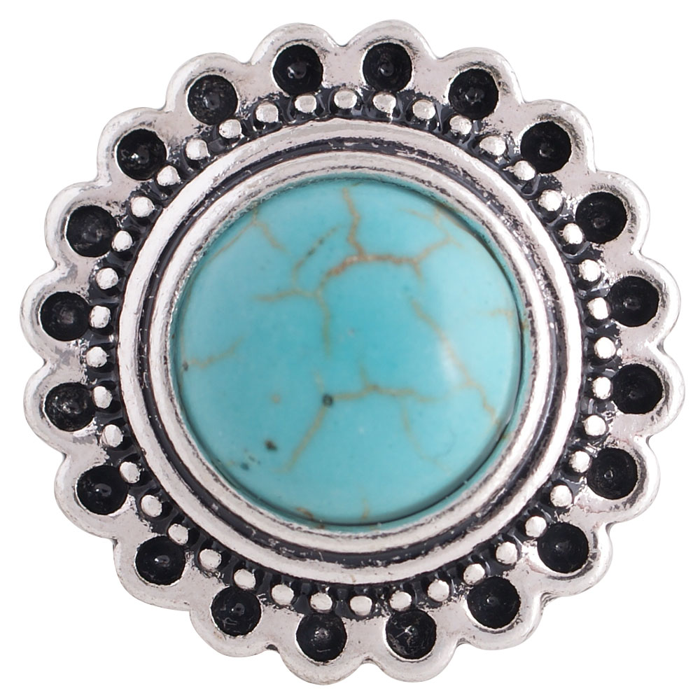 Snap Jewelry Stone - Turquoise Halo