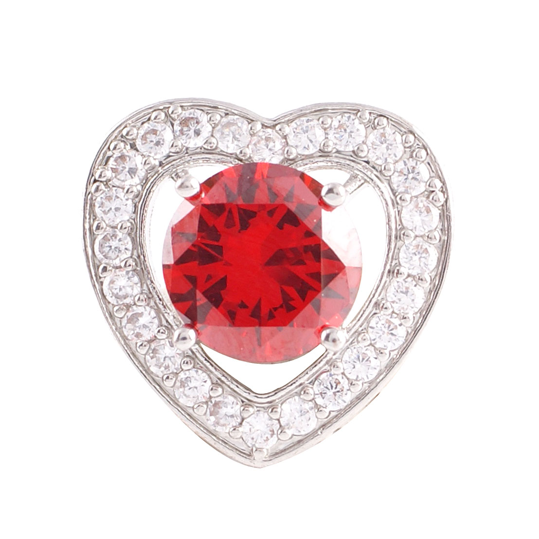 Snap Jewelry Large CZ - Heart Red