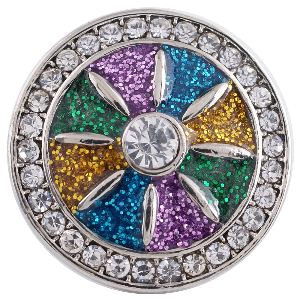 Snap Jewelry Rhinestone - Diamond Powder Multicolor & Clear