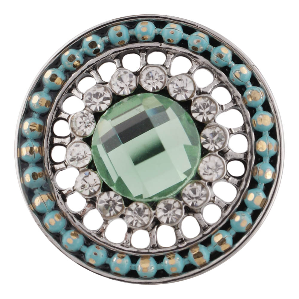 Snap Jewelry Rhinestone - Antique Light Green Center