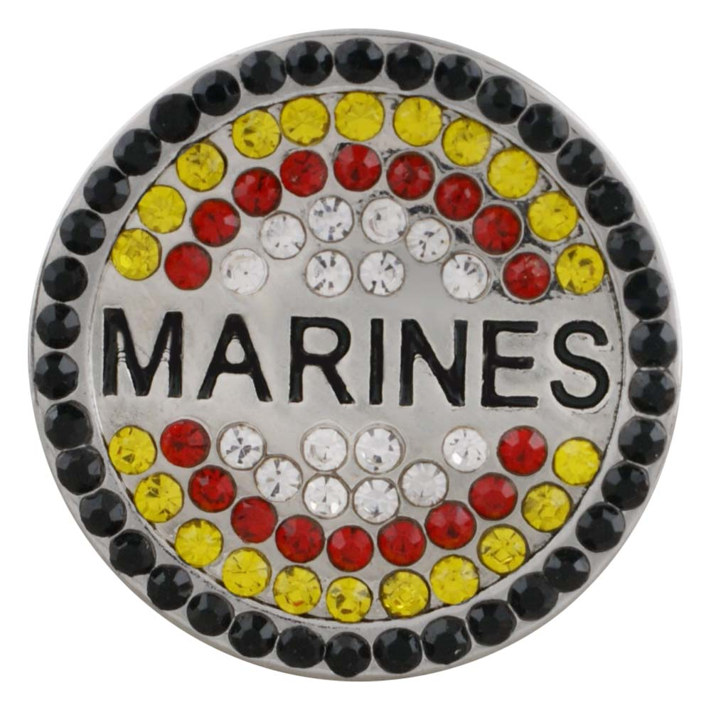 Snap Jewelry Rhinestone - Military Marines