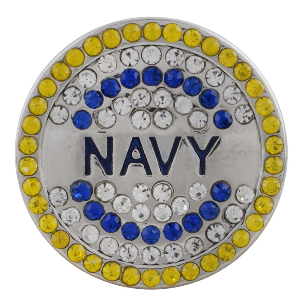 Snap Jewelry Rhinestone - Military Navy