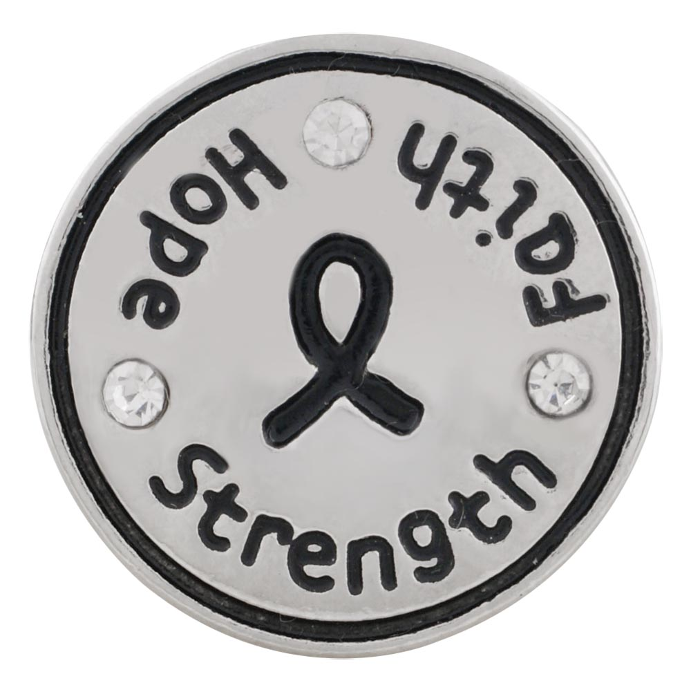 Snap Jewelry Rhinestone - Cancer Awareness FAITH HOPE & STRENGTH