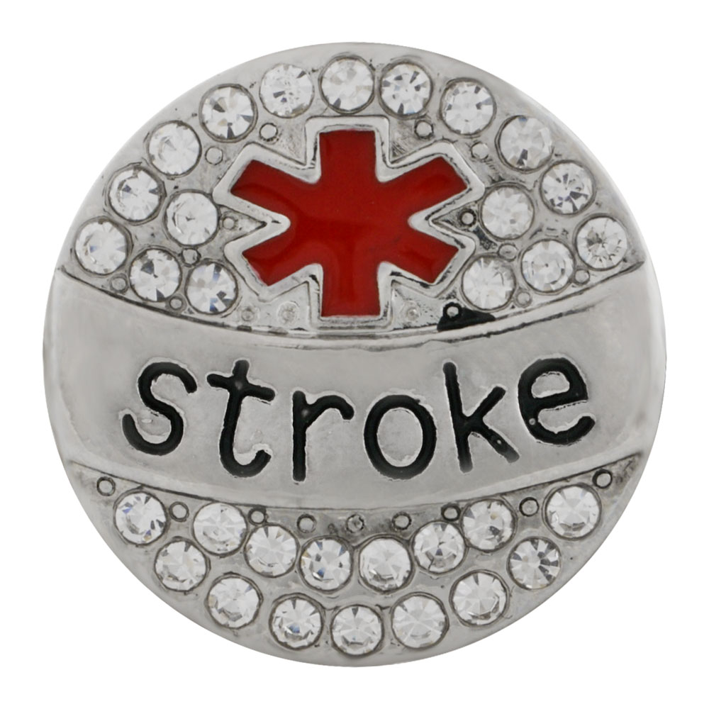 Snap Jewelry Metal - Medical Alert - Stroke