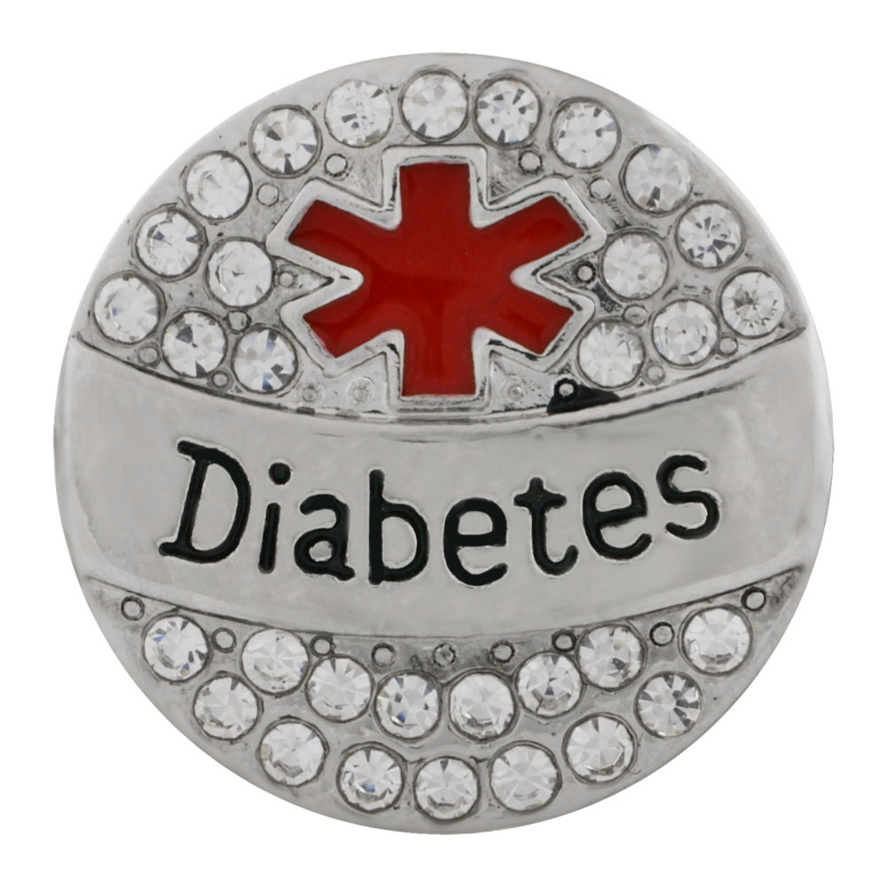 Snap Jewelry Metal - Medical Alert - Diabetes