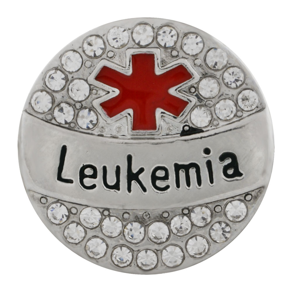 Snap Jewelry Metal - Medical Alert - Leukemia