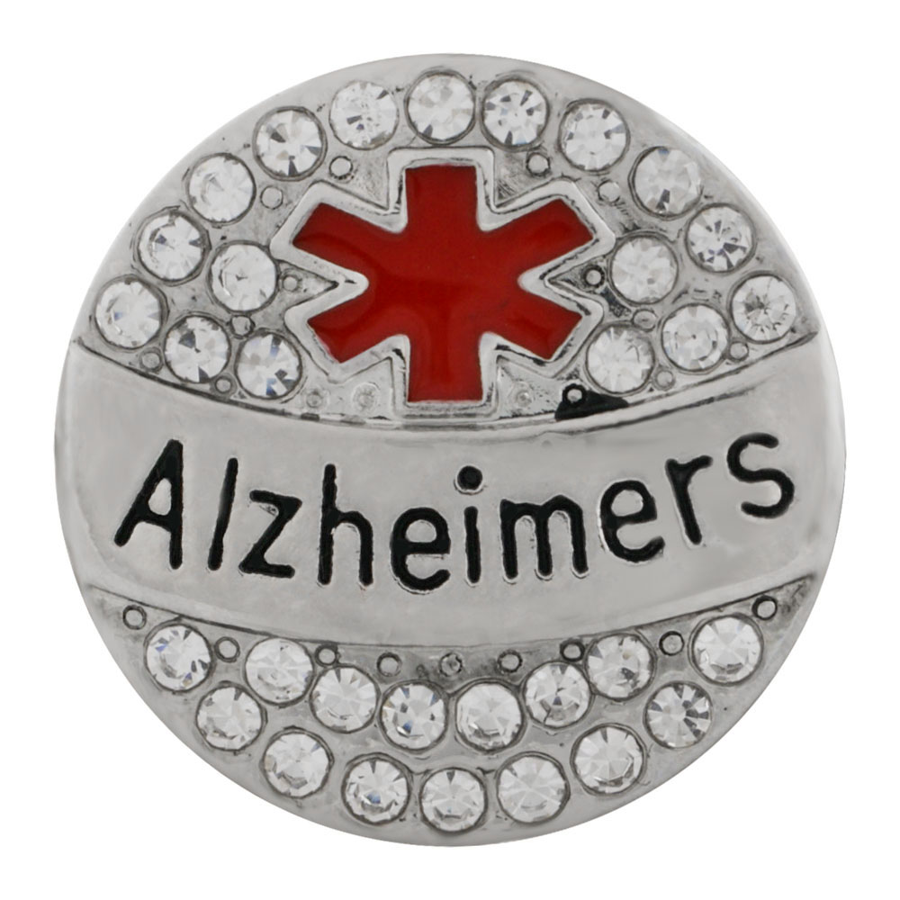 Snap Jewelry Metal - Medical Alert - Alzheimers