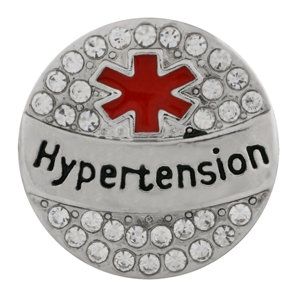 Snap Jewelry Metal - Medical Alert - Hypertension