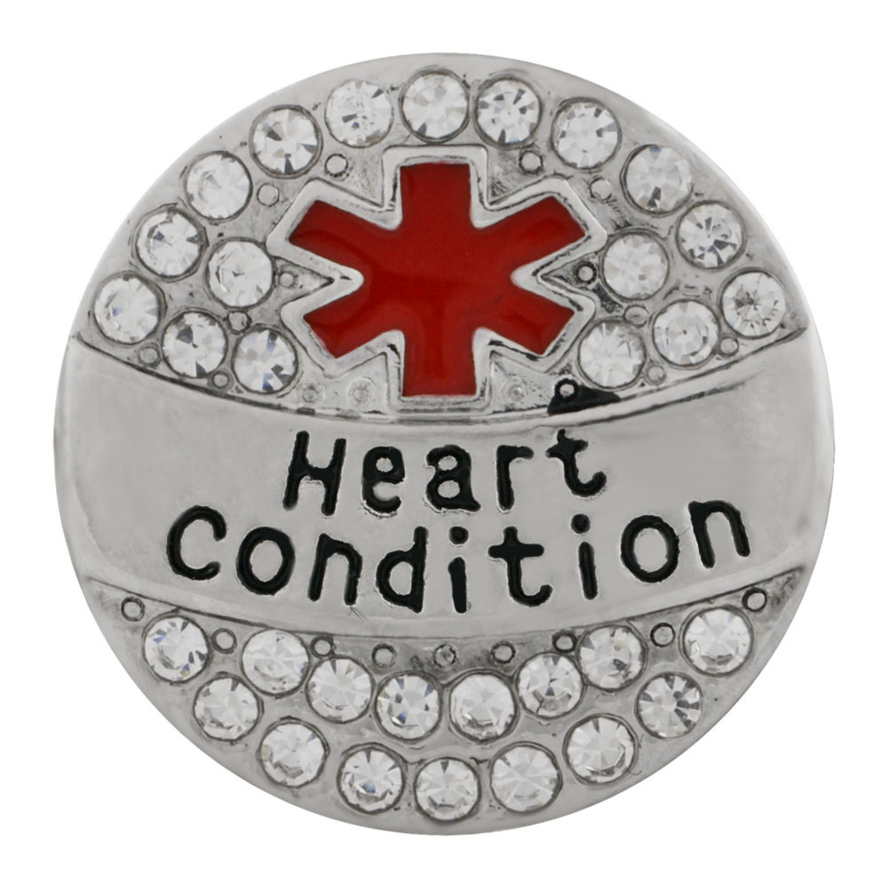 Snap Jewelry Metal - Medical Alert - Heart Condition