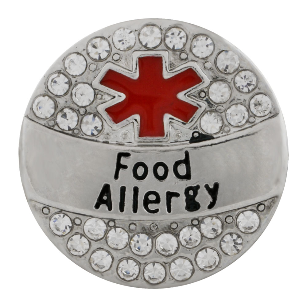 Snap Jewelry Metal - Medical Alert - Food Allergy