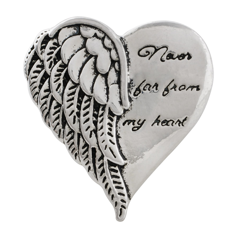 Snap Jewelry Metal - Never Far From My Heart Angel Wing