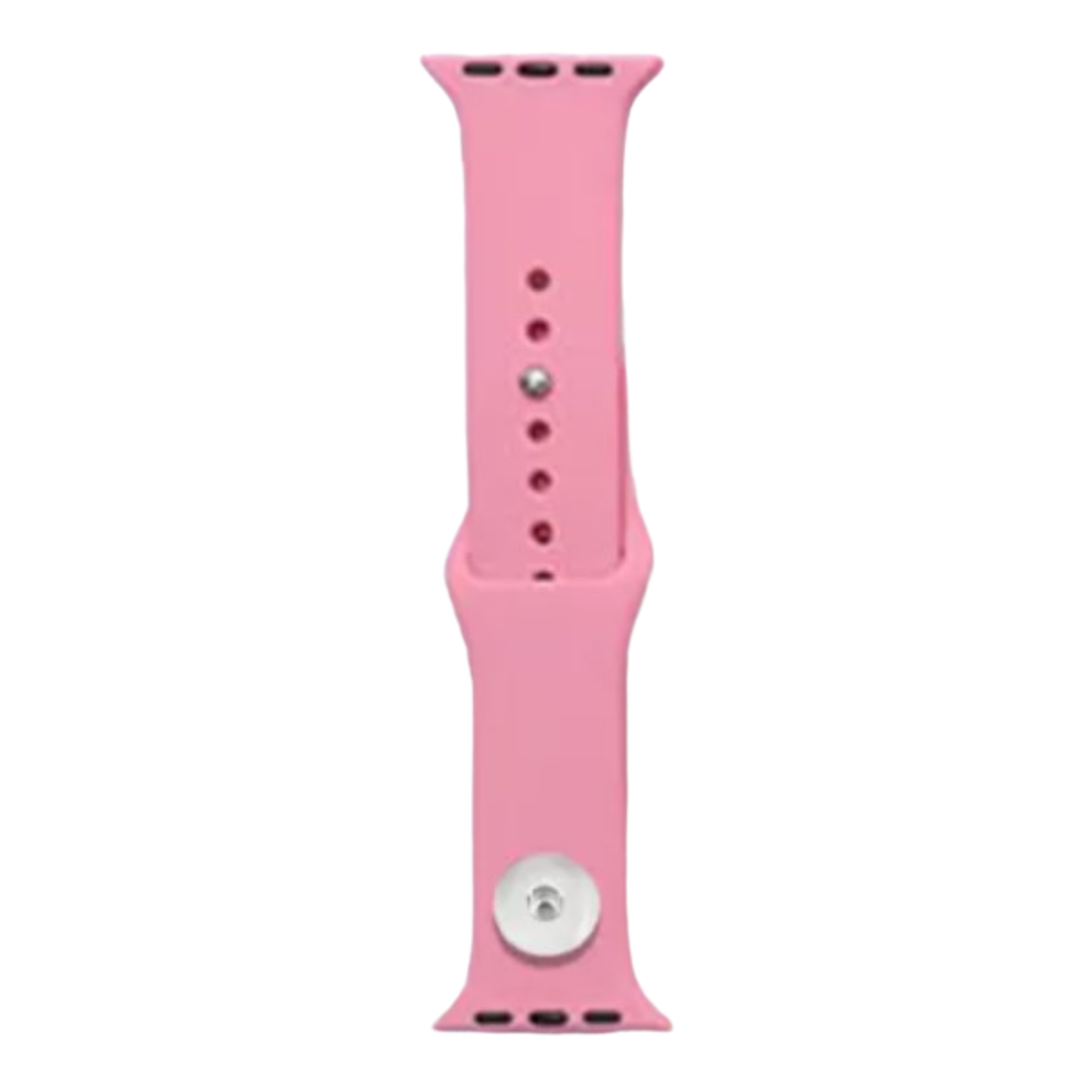 Snap Jewelry Medium Pink Silicone Wristband 38/40mm fits iWatch