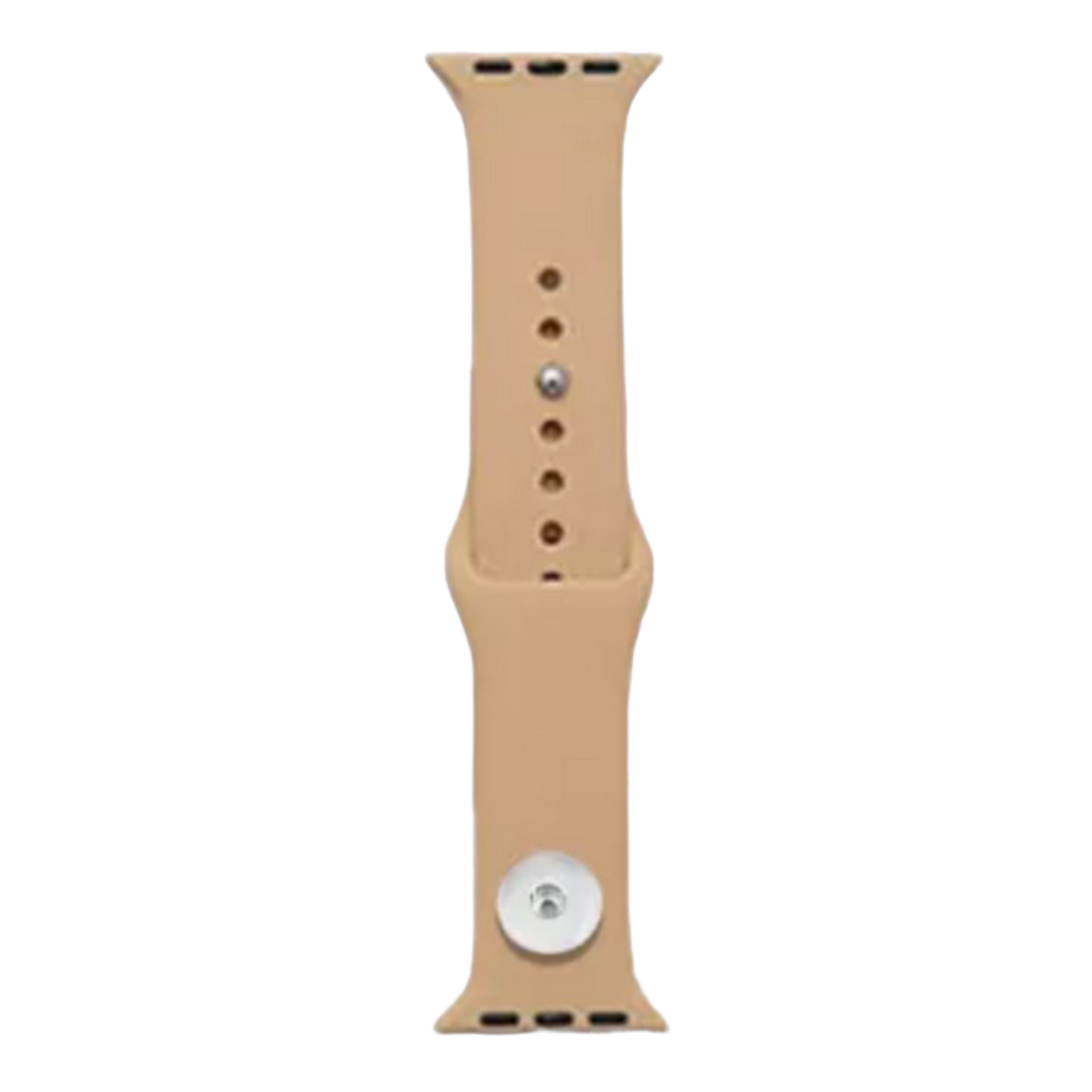 Snap Jewelry Walnut Tan Silicone Wristband 38/40mm fits iWatch