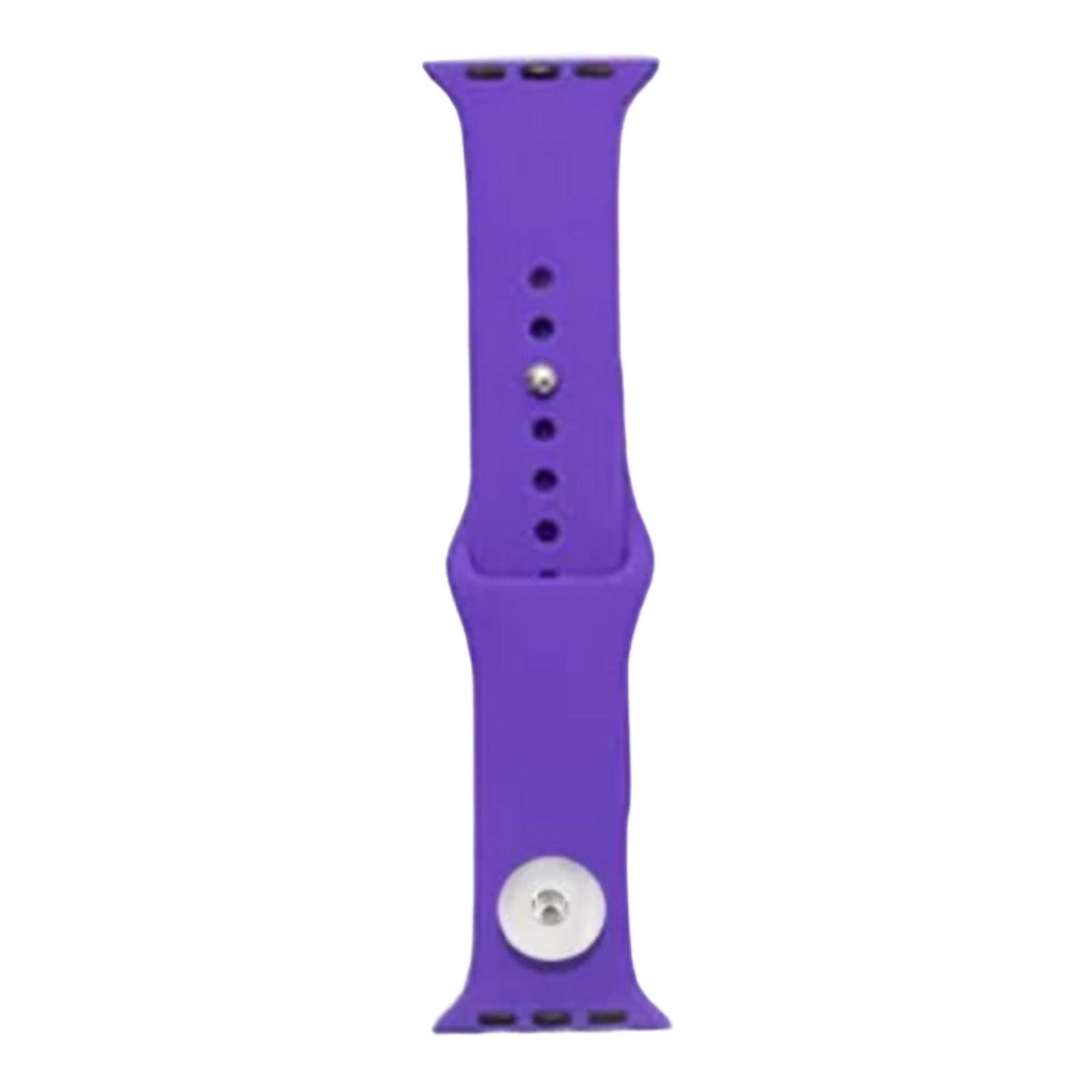 Snap Jewelry Purple Silicone Wristband 38/40mm fits Apple iWatch