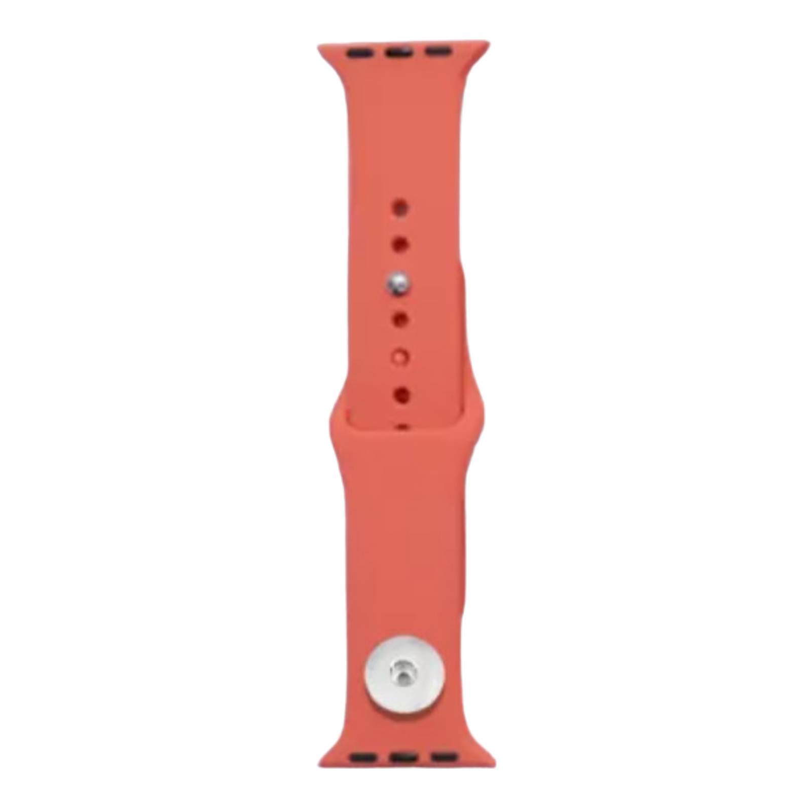 Snap Jewelry Orange Silicone Wristband 38/40mm fits Apple iWatch