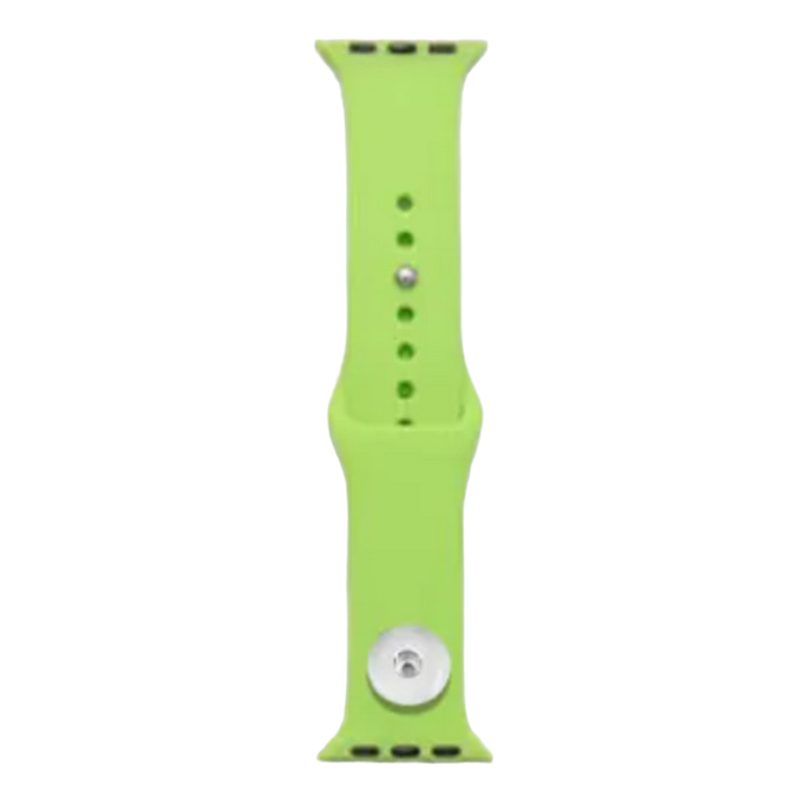 Snap Jewelry Lime Green Silicone Wristband 38/40mm fits iWatch