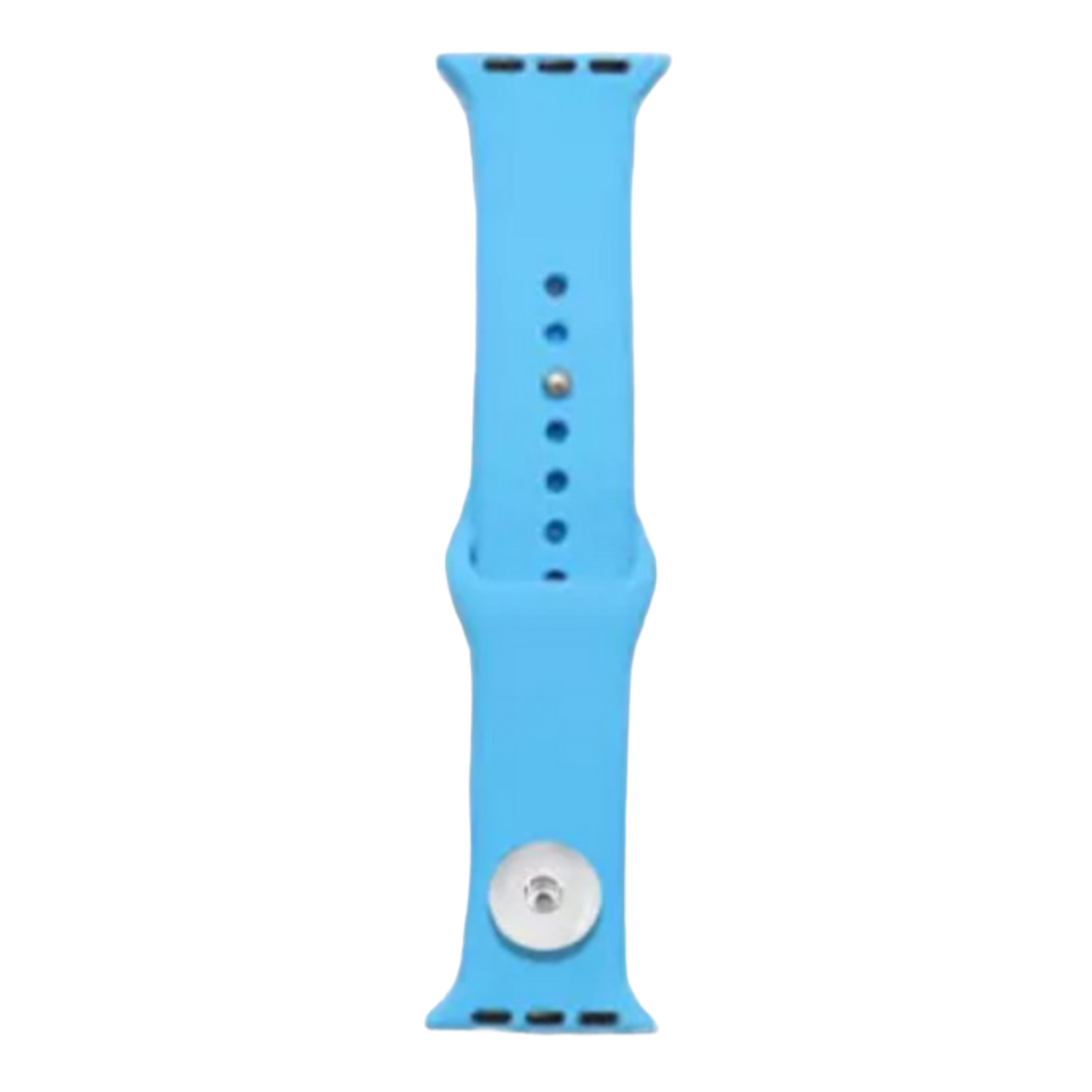 Snap Jewelry Blue Silicone Wristband 38/40mm fits Apple iWatch