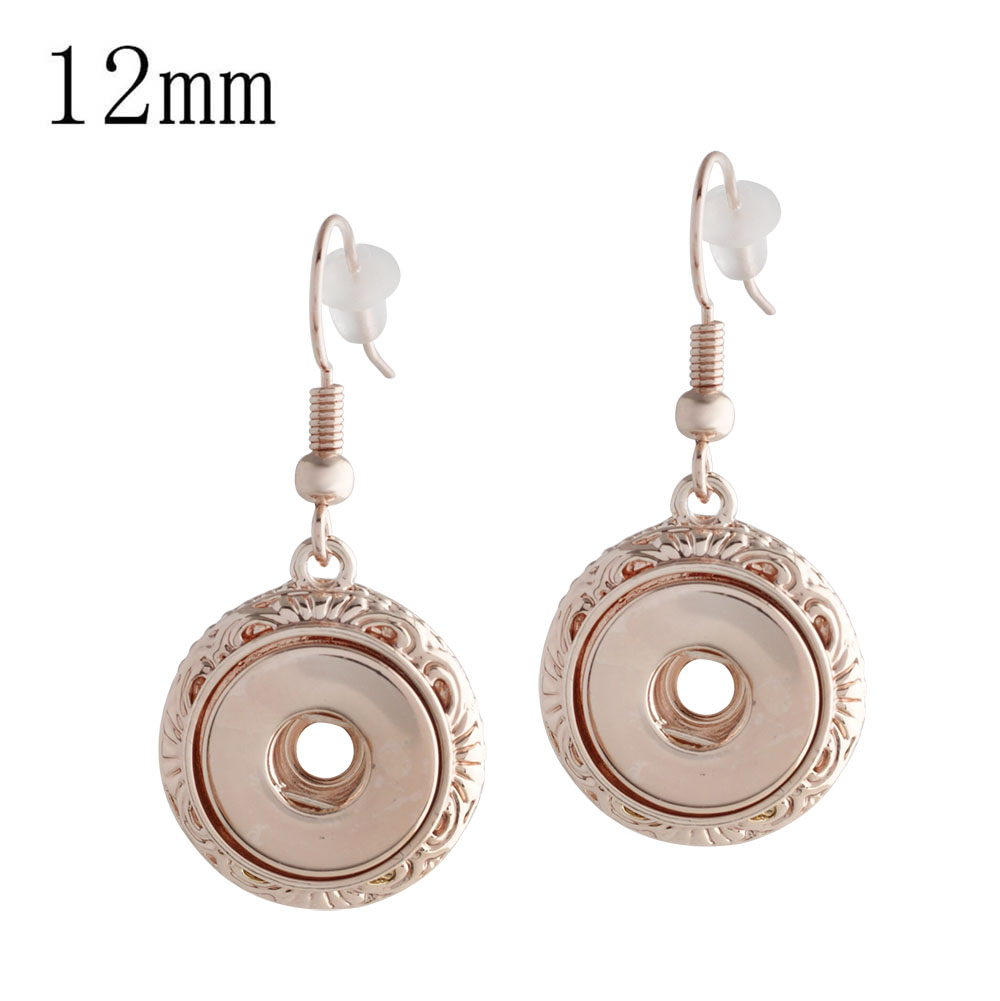 Mini Snap 12mm - Earrings Drop Rose Gold