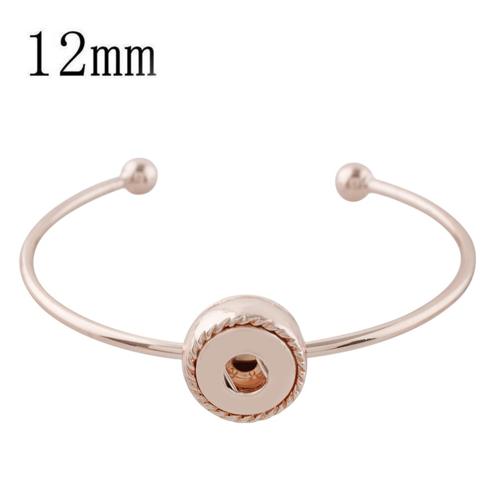 Mini Snap 12mm - Bracelet Cuff Designer Rose Gold-tone