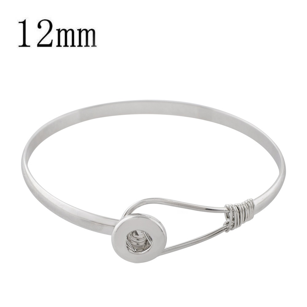 Mini 12mm Snap Jewelry Hook Loop Bangle