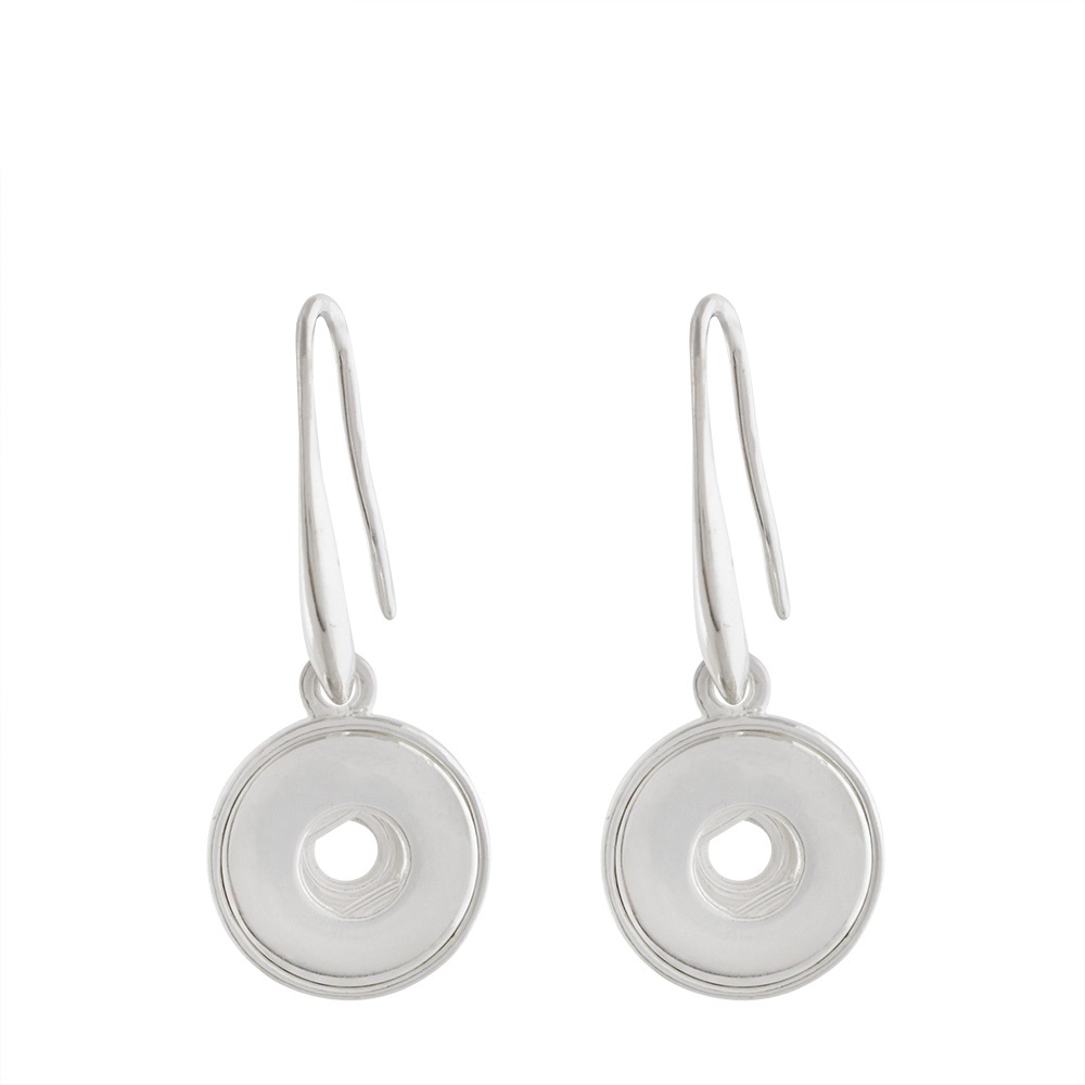 Mini 12mm Snap Jewelry Dangling Hooks Silver