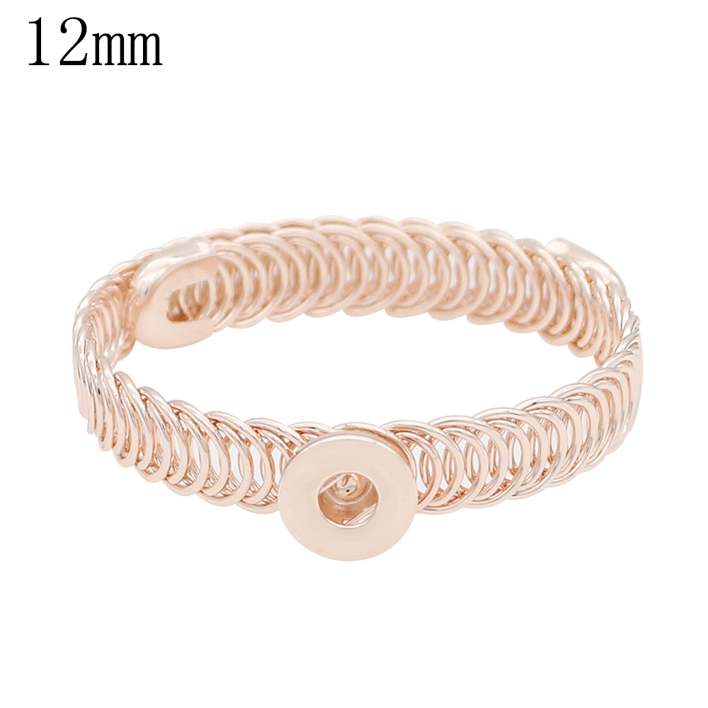 Mini Snap 12mm - Bangle Wire Wrap Rose Gold-Tone