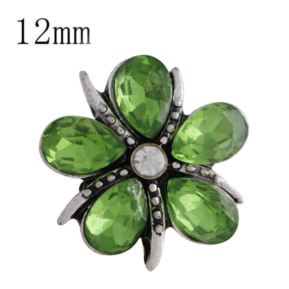 Mini Snap 12mm - Flower in Green Petals