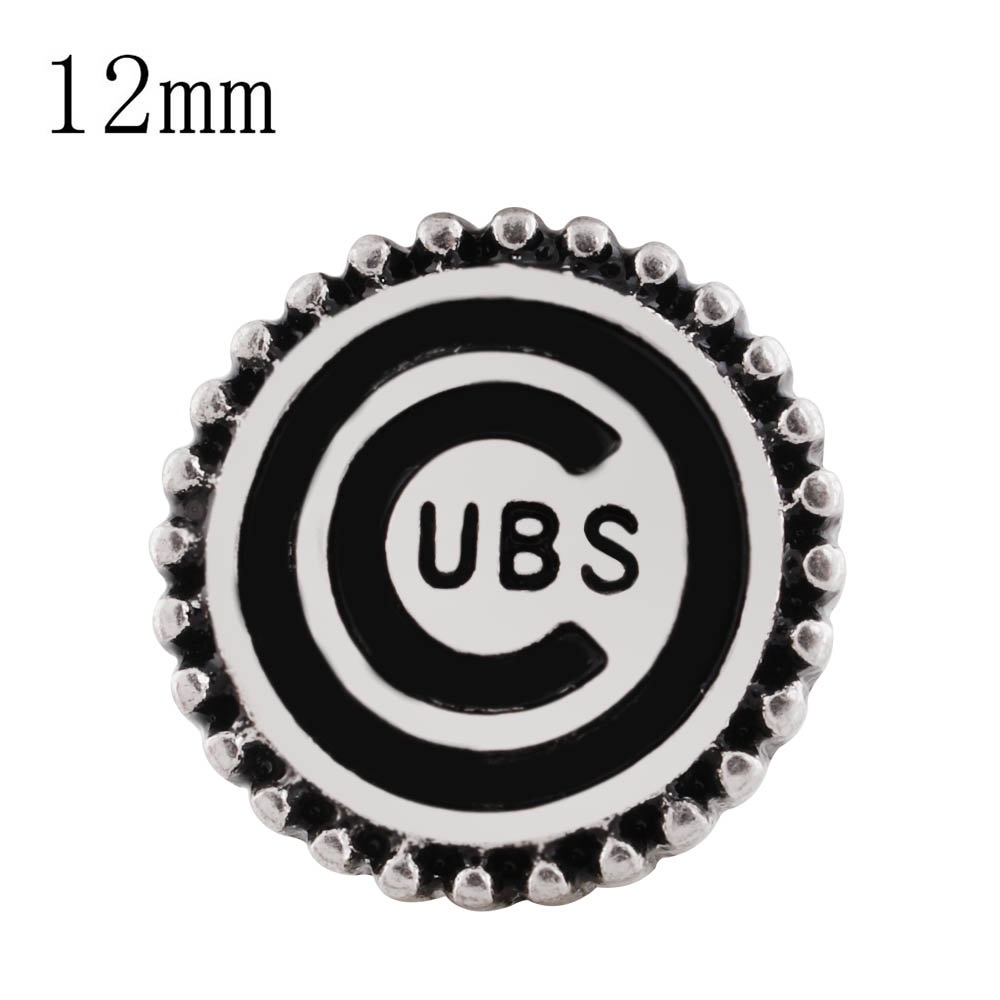 Mini 12mm Snap Metal -Sports Cubs