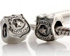 Charm 925 - Police Officer - Shield