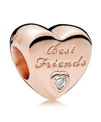 Charm 925 - Rose Gold Best Friends
