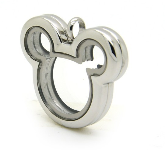 Stainless Steel Mouse Locket - Silver