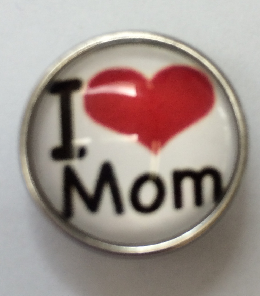 Snap Jewelry Photo - I Love My Mother