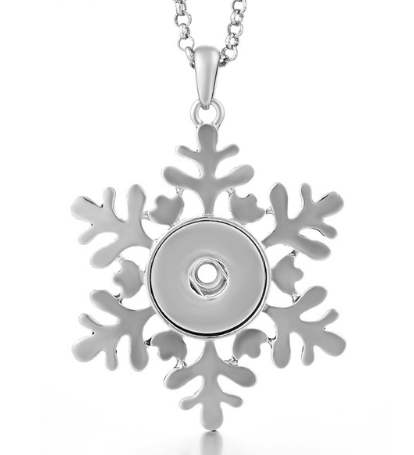 Snap Jewelry Necklace - Holiday Snowflake Christmas