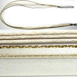 "18"" Two Tones Ribbon - Cream & Gold Stripes"