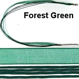 "18"" Forrest Green Short Ribbon"