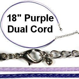 Purple and Lavender Dual Cord