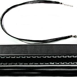"18"" Two Tones Ribbon - Black & Silver Stripes"