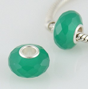 925 Crystal Beads - Teal Green