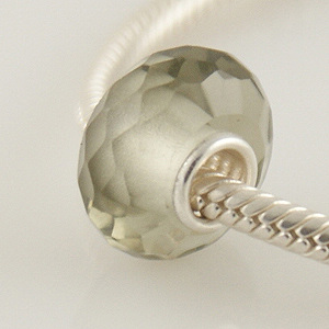 925 Crystal Beads - Light Silver Gray